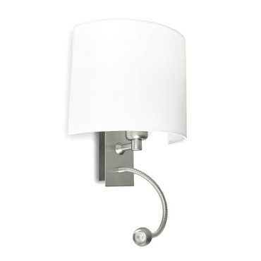 A-46 Basic Wall with LED Reading Light by Lightology Collection | LC-A-46-c