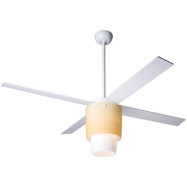 Halo Fan with Light by Modern Fan Co. | HAL-WA-52-WH-IN-NC