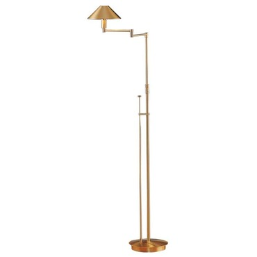 Aging Eye Metal Shade Swing Arm Floor Lamp by Holtkoetter | 9424 AB
