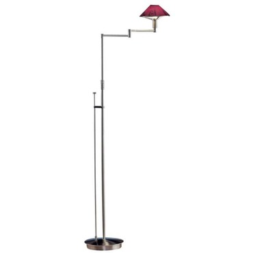 Aging Eye Glass Shade Swing Arm Floor Lamp