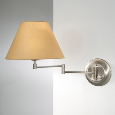 8164 Swing Arm Wall Light by Holtkoetter | 8164-SN-KPRG