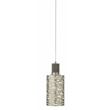 LED Perforated Steel Pendant