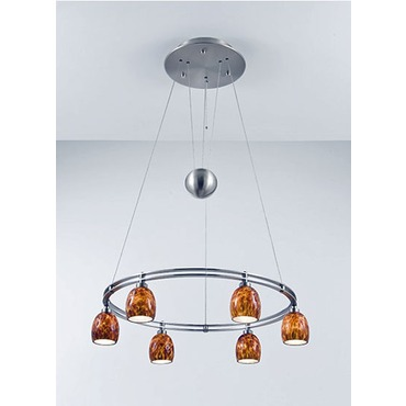 5556 Round Adjustable Pendant by Holtkoetter | 5556-SN-G5020