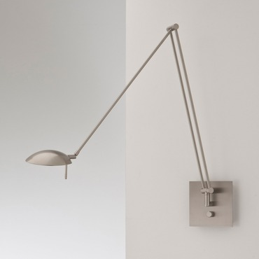 Bernie LED Reading Swing Arm Wall Lamp by Holtkoetter | 8195LED SN