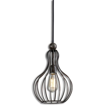 Bourret 1 Light Pendant by Uttermost | 21979