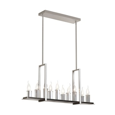 10 Light Linear Suspension by Dainolite | GRY-3410C-SC