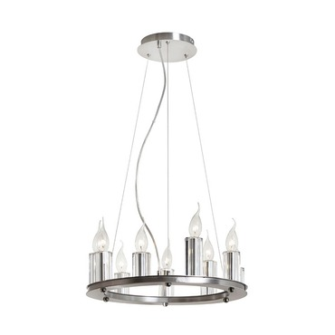 9 Light Round Chandelier by Dainolite | GRY-1809C-SC