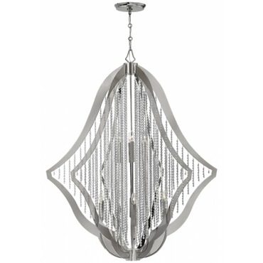 Bijou 12 Light Chandelier by Fredrick Ramond | FR43538PNI