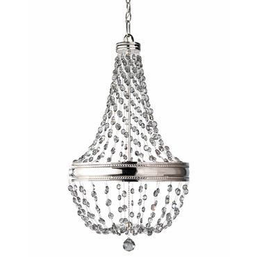 Malia 1 Tier Chandelier by Feiss | F2811/6PN