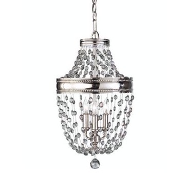 Malia 3 Light Pendant by Feiss | F2812/3PN