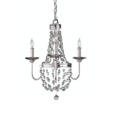 Malia Mini Chandelier  by Feiss | F2813/3PN