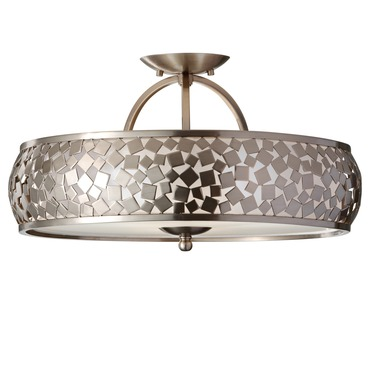 Zara Semi Flush Ceiling Light by Feiss | SF305BS