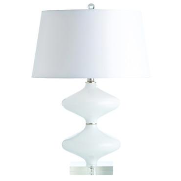 Stormy Opal Cased Glass Table Lamp