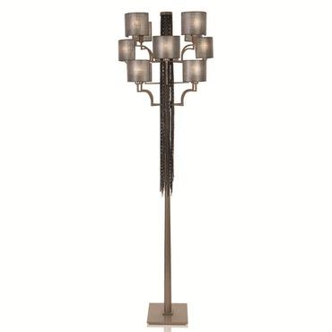 12 Light Floor Lamp by Lightology Collection   LC-EC12-M18-T12-BN