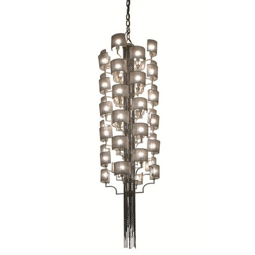 44 Light Stacked Chandelier by Lightology Collection | LC-EC01+10EC02-M18-T12