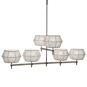 6 Light Chandelier by Lightology Collection | LC-N03N2