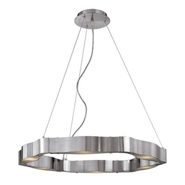 Titanium Cable Chandelier by Access | 62317-BS/FST
