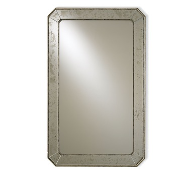 Antiqued Wall Mirror by Currey and Company | 4203-CC