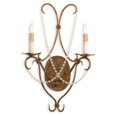 Crystal Lights Wall Sconce by Currey and Company | 5880-CC
