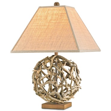 Driftwood Sphere Table Lamp by Currey and Company | 6444-CC