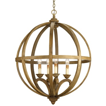 Axel Orb Chandelier by Currey and Company | 9015-CC