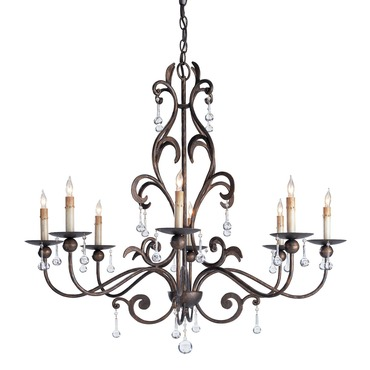 Pompeii Chandelier by Currey and Company | 9380-CC