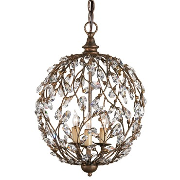 Crystal Bud Sphere Pendant by Currey and Company | 9652-CC