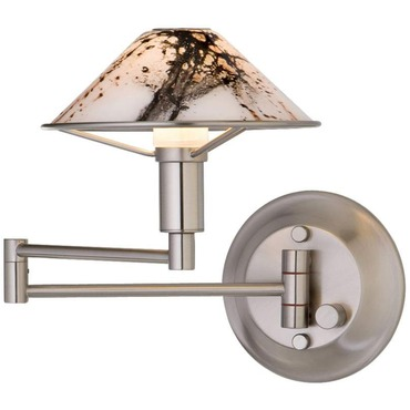Aging Eye Glass Shade Swing Arm Wall Lamp by Holtkoetter | 9426-SN-MRB