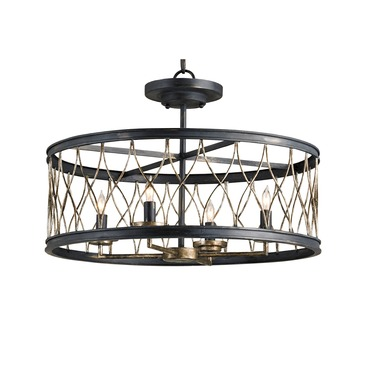Crisscross Ceiling Mount by Currey and Company | 9902-CC