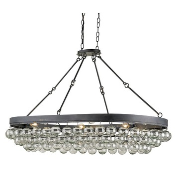 Balthazar Oval Chandelier by Currey and Company | 9888-CC
