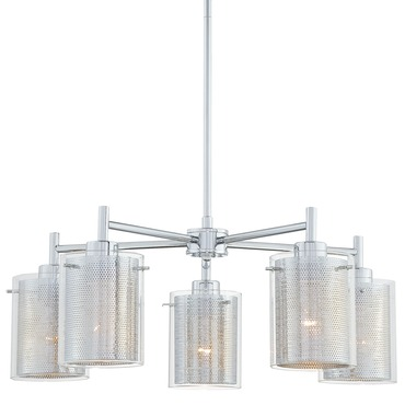 P965 Grid II Chandelier by George Kovacs | P965-077