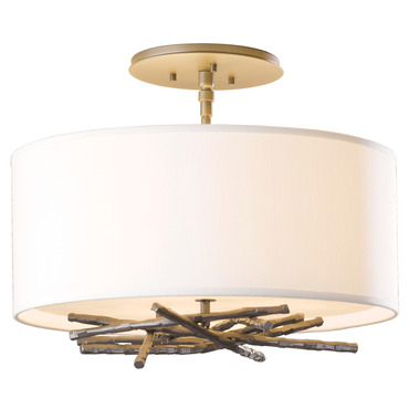 Brindille Semi Flush Ceiling Light by Hubbardton Forge | 127660-08-773
