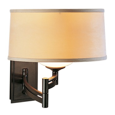 Left Swing Arm Wall Light by Hubbardton Forge | 209310L-07-312G