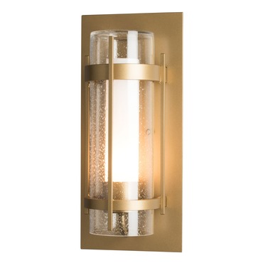 Banded Seeded Glass Outdoor Wall Sconce