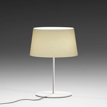 Warm Aluminum Shade Table Lamp