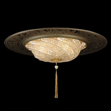 Scudo Saraceno Glass Ring Ceiling Light Fixture