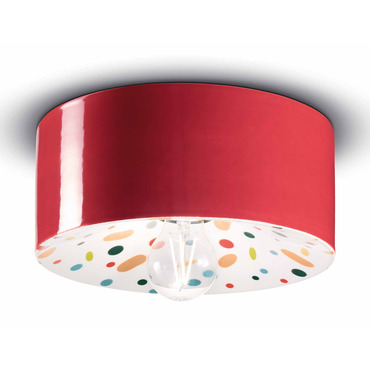 PI Ceiling Light With Polka Dot Pattern