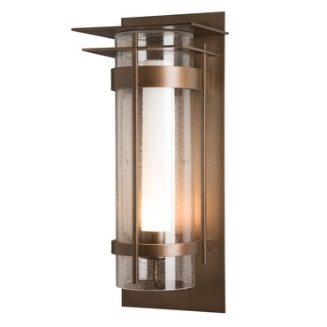 Banded XL Seeded Top Plate Outdoor Wall Sconce