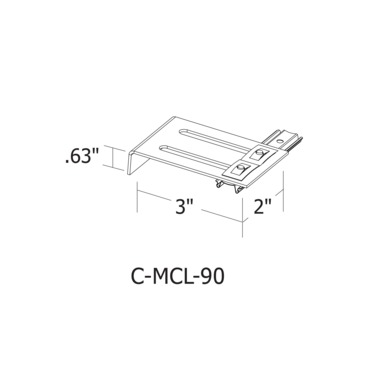 Cirrus Channel 90 Degree Mounting Clip by PureEdge Lighting | C-MCL-90