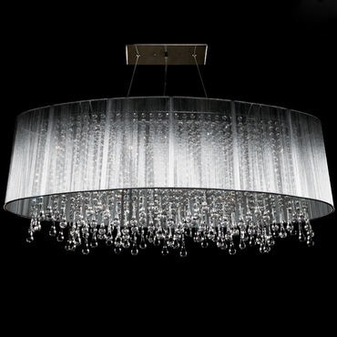 Beverly Drive Suspension by Avenue Lighting | HF1503-SLV