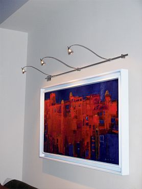 Wall Monorail Curve by Edge Lighting