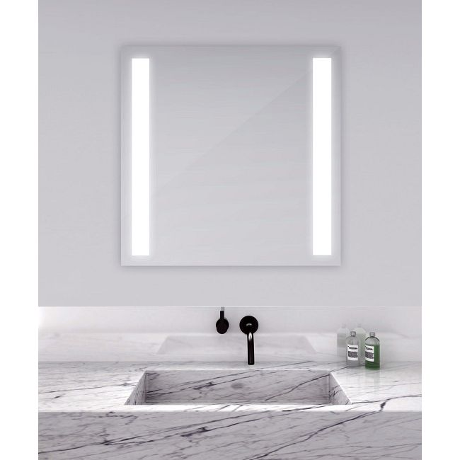 Fusion Square Lighted Mirror  by Electric Mirror