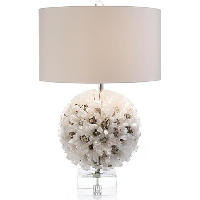 Selenite and Mica Table Lamp  by John-Richard