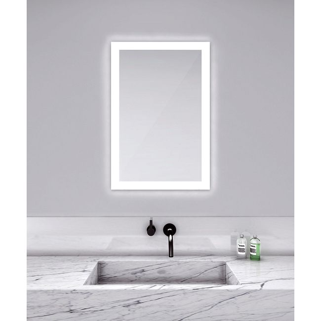 Silhouette Rectangle Lighted Mirror  by Electric Mirror