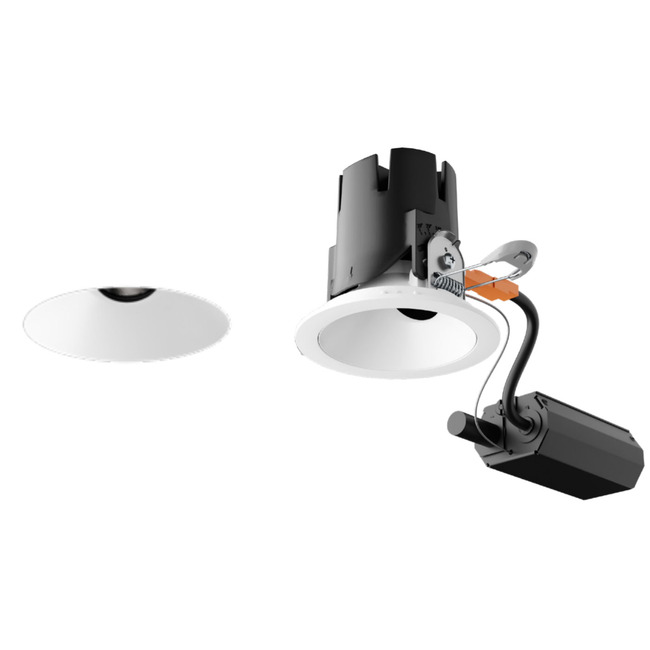 Entra CL 3IN Remodel Housing with Round Flangeless Trim  by Element by Tech Lighting