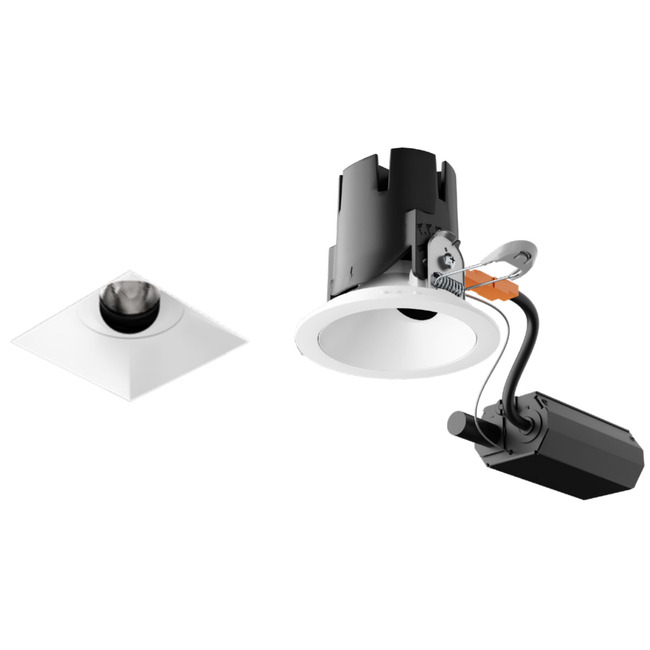 Entra CL 3IN Remodel Housing with Square Flangeless Trim  by Element by Tech Lighting