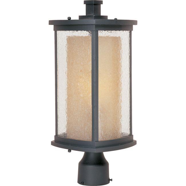 Bungalow Outdoor Post Mount by Maxim Lighting | 85650CDWSBZ