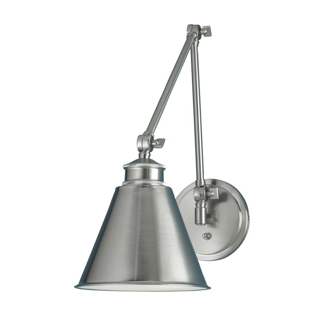 Aidan Swing Arm Sconce by Norwell Lighting | 8475-BN-MS