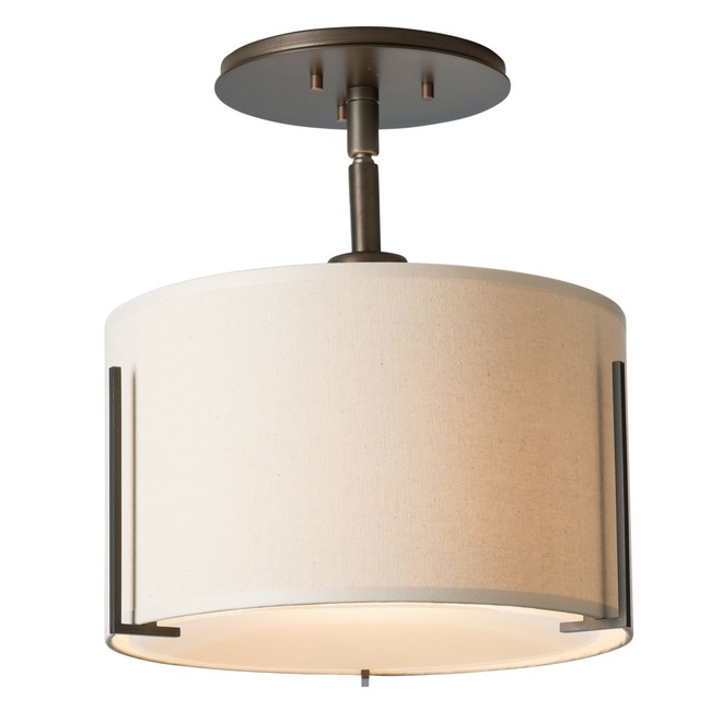 Exos Semi Flush Ceiling Light  by Hubbardton Forge