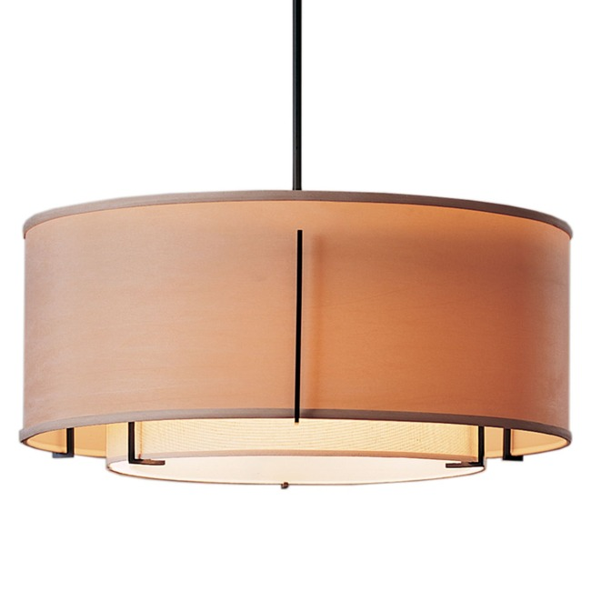 Exos Double Shade Pendant  by Hubbardton Forge
